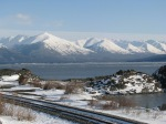Drive towards Alyeska ski resort