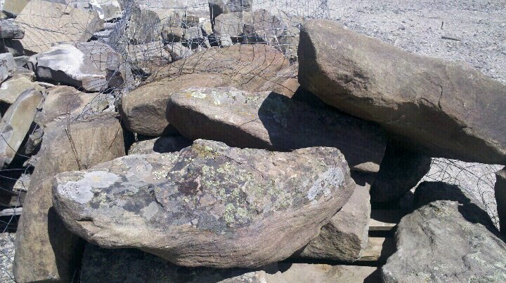 boulders for the fall area