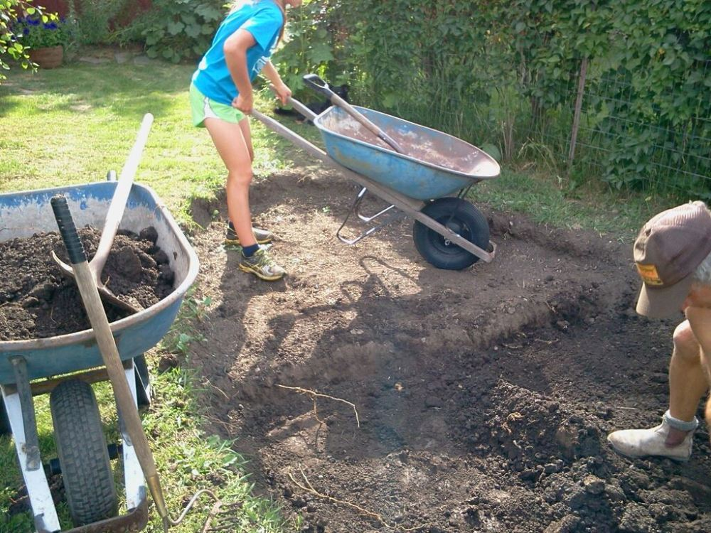 lots of dirt to add to our compost pile, that is never a bad thing!